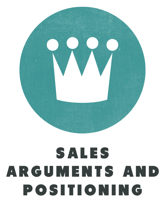 contents sales arguments and positioning