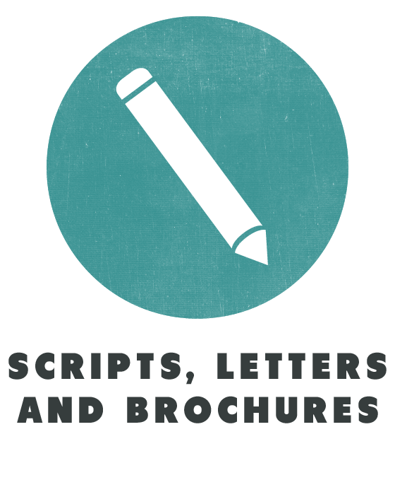 contents scripts letters and brochures